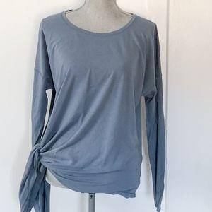 Lululemon Side Tie Shirt Gray Size 10